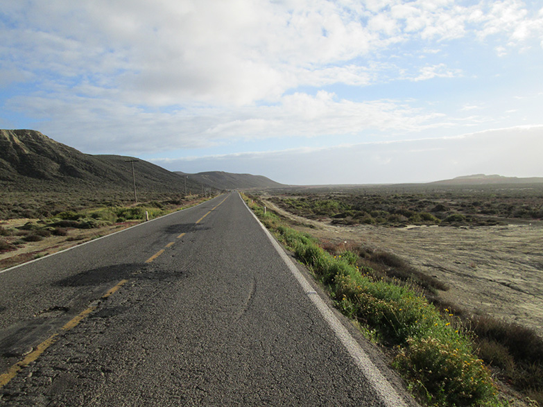 Road from San Quintin to El Rosario, Baja.