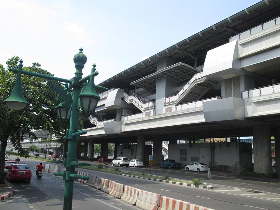 Wongwian Yai skytrain station in Bangkok.