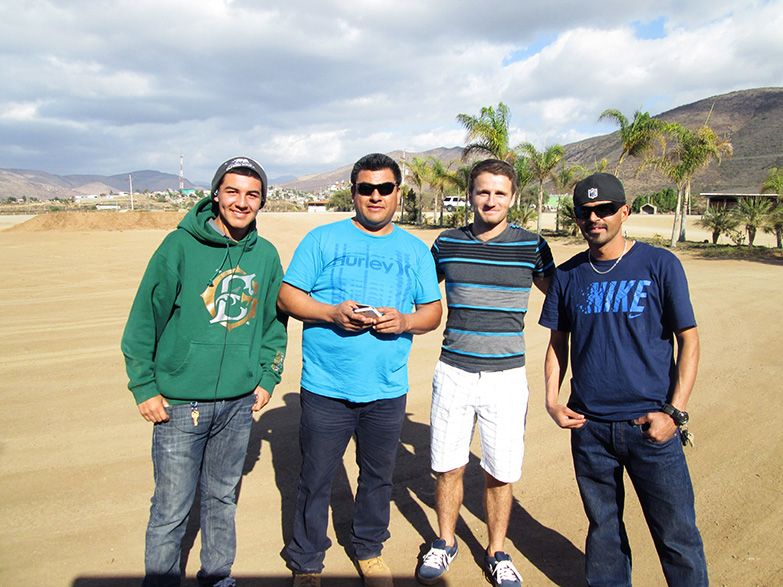 Hitchiking with San Diegans in Baja, near San Quintin.