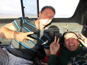 Hitchiking in Baja California.