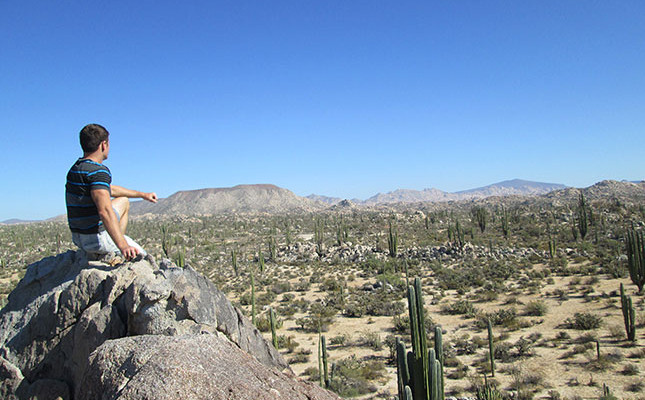 Danny Flood in Catavina desert