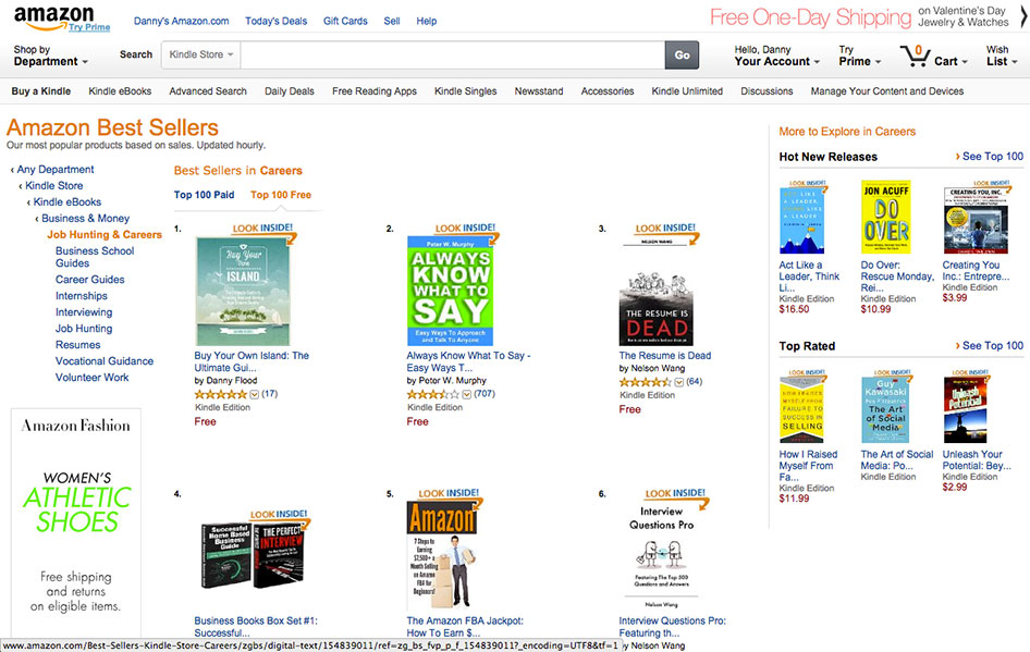 Buy Your Own Island #1 on Amazon charts for Job Hunting and Careers