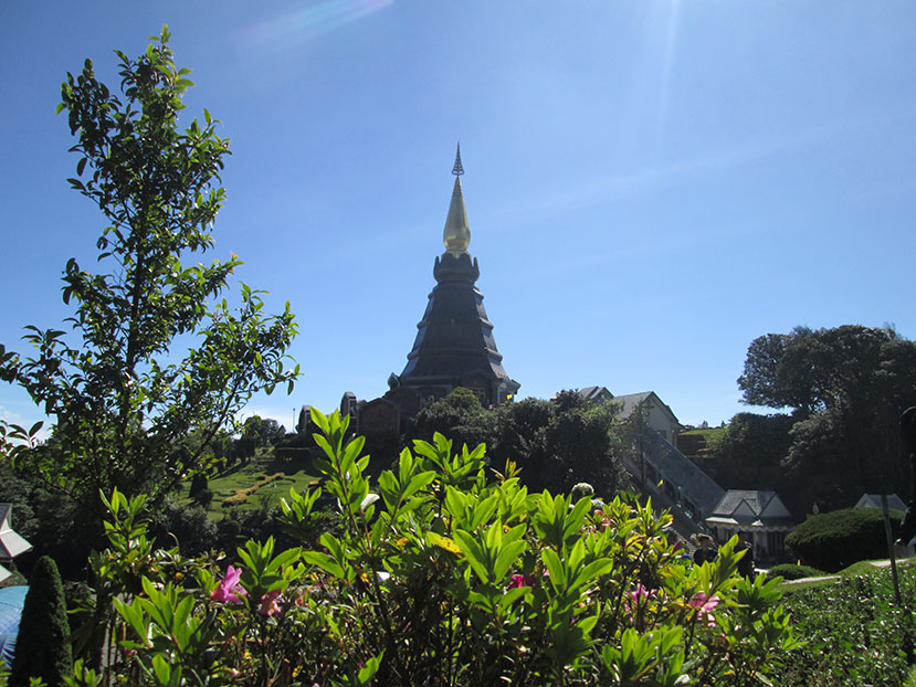 King's temple at Doi Inthanon, Chiang Mai, Thailand.