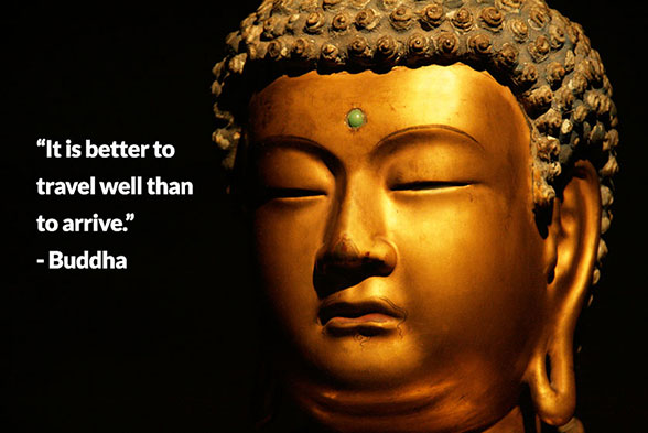 Buddha's travels paved the way to Enlightenment and inspired billions of people throughout the generations.
