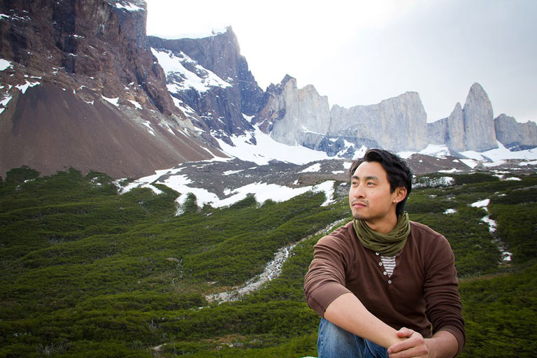 Ryan Lum in Chile.