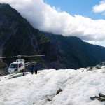The Franz Josef Glacier in New Zealand.