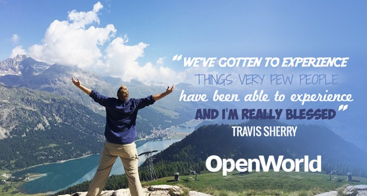 Travis Sherry, host of Extra Pack of Peanuts, talks with OpenWorld