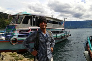 Danny Flood at Lake Toba