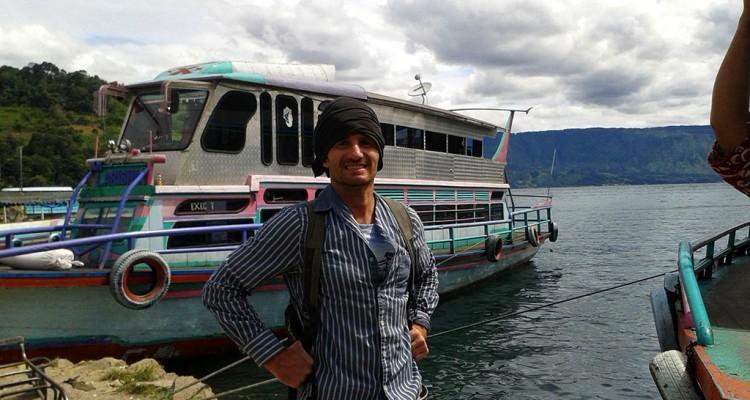 Danny Flood at Lake Toba