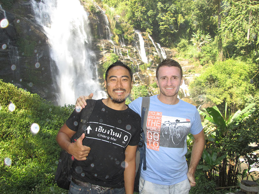Derek Pankaew and Danny Flood in Chiang Mai.
