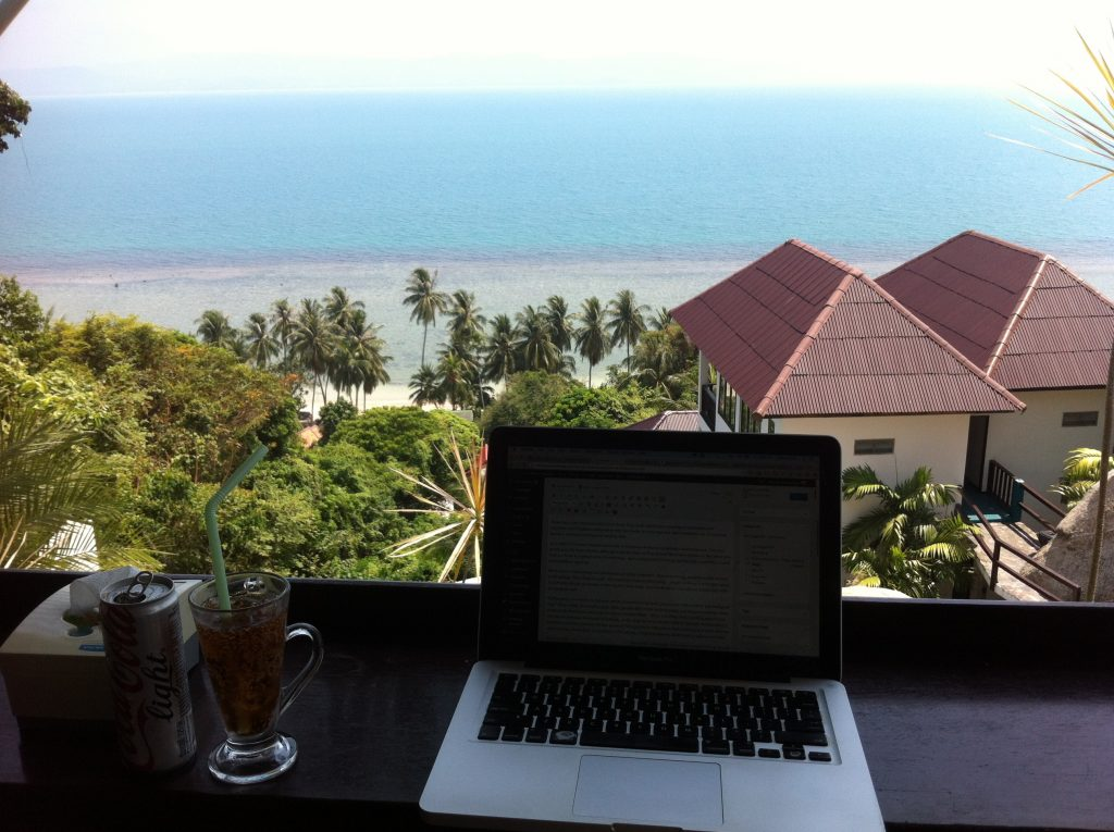Viewpoint in Koh Phangan, Thailand. My office this week :)