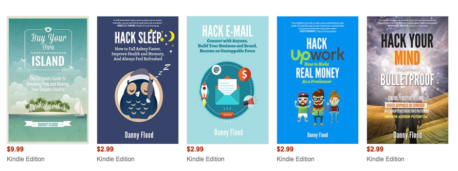 Best-selling books on Amazon by Danny Flood.