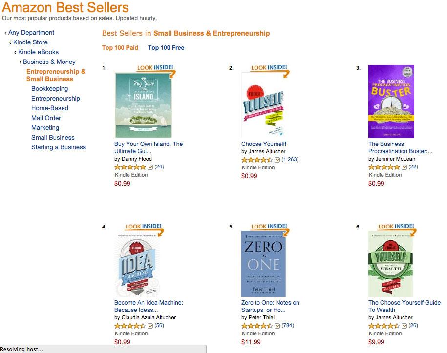 Amazon best-seller, Buy Your Own Island.
