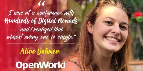 Aline Dahmen, founder of Nomad Soulmates