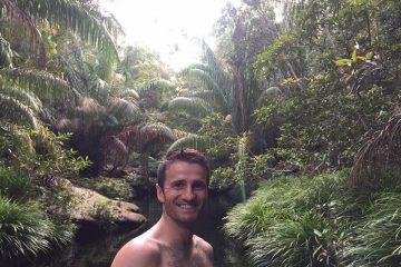 Danny Flood hiking at Bako National Park.