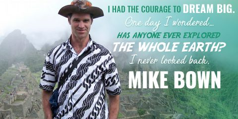 Mike Spencer Bown, the world's most travelled backpacker.