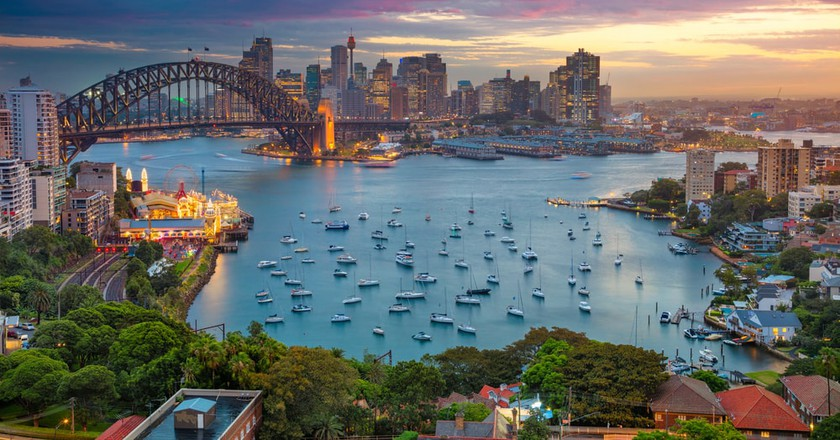 Sydney, Australia waterfront.