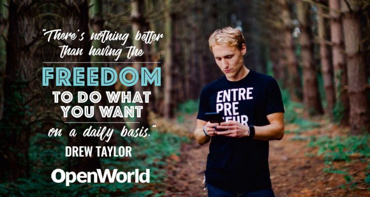 Drew Taylor, digital nomad